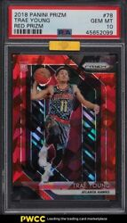 2018 Panini Prizm Red Ice Trae Young Rookie Rc 78 Mba Psa 10 Gem Mint
