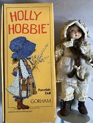 Vintage Holly Hobbie Porcelain Doll /gorham Plays When You Wish Upon A Star 1984