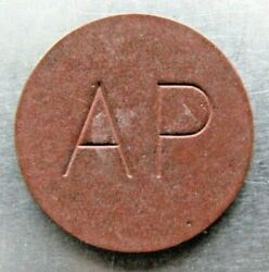 St.lucia Token Lyall 454 Antilles Products A.p. Incuse On Red Fiber.
