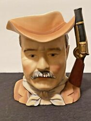Vintage Theodore Roosevelt Collectors Cup Lefton China Hand Painted