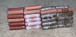 4,100 Lincoln Memorial 95 Copper Pennies 82 Rolls Apprx 28lbs - 1959-1982