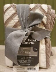 Better Homes And Gardens Quilted Pillow Shams Taupe Diamond - King 2 Shams