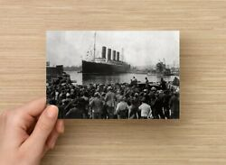 Postcard Print / Lusitania Leaving Port Of New York On Its Final Voyage, 1915