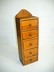 Vintage Style Wood Spice Drawers Box Wall Cupboard Pantry Cabinet 14x 4