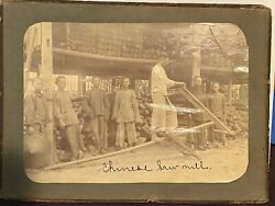 Vintage China Sawmill Workers Early 1900s