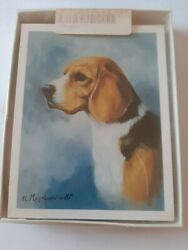 New Beagle Dog set of 6 Note Cards with Envelopes designed by Ruth Maystead