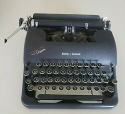 1940's Smith Corona Clipper Floating Shift Typewriter W/case-4c161960-vg+ Cond