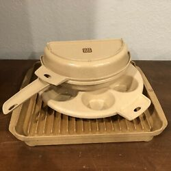 Vtg Littonware Microwavable Cookware Muffin Cup Bacon Tray Rack Omelet Lot