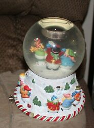 Partylite Peppermint Pals Musical Tealight Globe