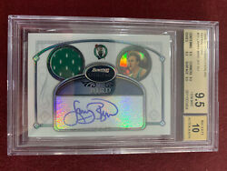 Larry Bird 2006 Bowman Sterling Refractor Game Used Jersey Auto 33/199 Bgs 9.5