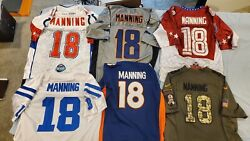 6 Peyton Manning Colts Broncos Pro Bowl Salute To Service Jersey Lot Used L/xl