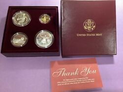 1996 Us Olympic Coins Of The Atlanta Games 4 Coin Proof Set W/gold Coin B42.e