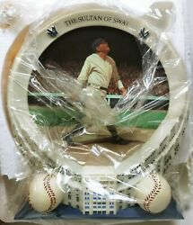 Babe Ruth Yankee Stadium 75th Anniversary Collection Plate with 3D Frame NIB COA