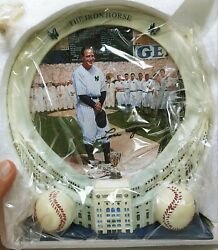 Lou Gherig Yankee Stadium 75th Anniversary Collection Plate with 3D Frame NIB