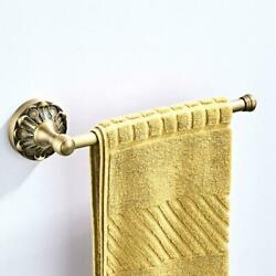 Antique Bronze Brass Carved Wall Mounted Towel Rack Bathroom Accessories