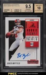 2018 Panini Contenders Baker Mayfield Rookie Rc Auto 101a Bgs 9.5 Gem Mint