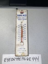 Antique Amoco Gas Oil Murphy-miles Thermometer Advertisement 11 Chicago Il 7954