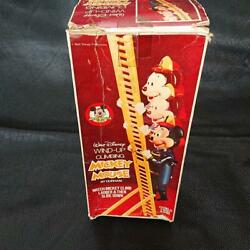 Mickey Firefighter Disney Wind-up Toys Antique Made In Hong Kong From Japan Good