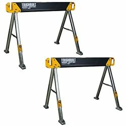Toughbuilt 2-pack 42.4 Steel Sawhorse And Jobsite Table Pair 2200 Lb. Capacity
