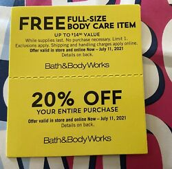Bath And Body Works Coupons 20 Off Expire July 11 Use In Store And Online