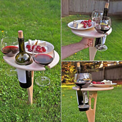 Outdoor Wine Table Portable Folding Wine Table Camping Mobile Wine Glass Holder