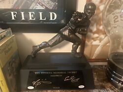 Texas Longhorns Earl Campbell And Ricky Williams Heisman Trophy Signed Jsa