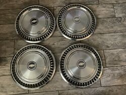 """15"""" Vintage Chevy Dog Dish Hubcaps"""