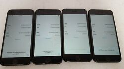 Lot Of 4 Iphone 7 A1660 Matte Black 128gb Clean Imei Ic-locked Parts/repair