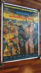 Planet Of The Apes - 1968 Original French Grande Poster 47 X 63 Linen-backed