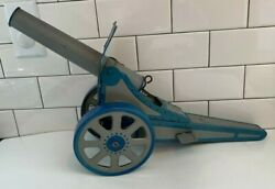 Very Large Vintage Marx 1940-50s Tin Litho Shooting Cannon 18 Long X 12 Tall