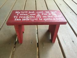 Vintage Red Kids Wooden Step Stool My Stool Just Can't Be Beat…