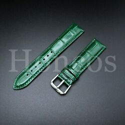 20mm Replacement Premium Leather Watch Strap Band Clasp For Green