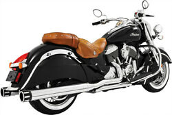 Freedom Performance Chrome/black End Caps 4in. Eagle Slip-on In00032