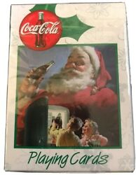 Coca Cola Playing Cards Bicycle Santa Claus Factory Sealed