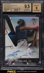 2018 Finest Mystery Redemption Ronald Acuna Jr. Rookie Rc Auto /99 Bgs 9.5 Gem