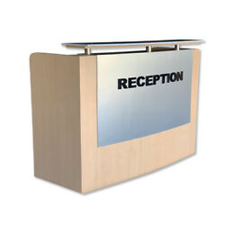 Reception Desk Counter Front Showcase With Granite Marble Top