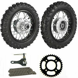 Front Rear 2.50-10 Tire Rim 2.5-10 Drum Brake For Pw50 Crf50 Ttr50 Ssr Coolster