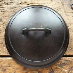 Vintage Griswold Cast Iron Lid For Dutch Oven 7 Small Block Logo - Ironspoon
