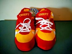 Nfl Kansas City Chiefs Plush Sneaker Style Slippers New Old Stock Size L