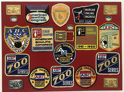 American Bowling Congress Abc Vintage 300 Game Patches Buckle League Champ 700