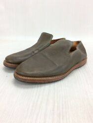 Viberg Authentic Leather Vamp Loafers Shoes Khaki Us 6 Used From Japan