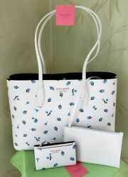 Kate Spade All Day Dainty Bloom Tote W/wristlet Pouch And/or Bifold Walletnwt