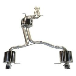 Awe 3015-42014 Touring Edition Exhaust For Audi B7 S4 - Polished Silver Tips
