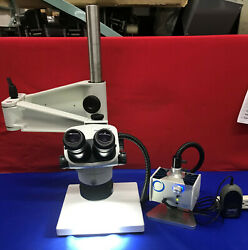 Olympus Sz61 Microscope With Schott Mls Led, Stand And Light Mcid 77148