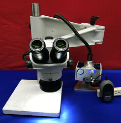 Olympus Sz61 Microscope With Schott Mls Led Stand And Light Mcid 77152