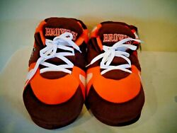 Nfl Cleveland Browns Plush Sneaker Style Slippers New Old Stock Size M