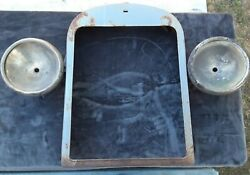 Vintage 1920and039s 1930and039s Radiator Shell With Chrome Para Beam Headlight Buckets