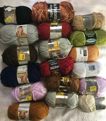 Huge Vintage Metallic Yarn Lot 17 Skeins Vanna White Patons And Other Brands