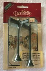Lemax Dickensvale Christmas Village Collection Street Signs Vintage Christmas