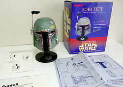 Used 1997 Leidel Star Wars Boba Fett Helmet Figure Stand Included 20cm With Box